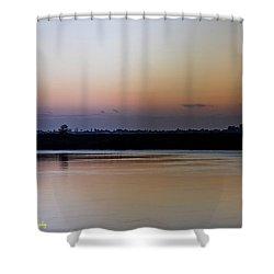 March Pre-sunrise Shower Curtain by Nance Larson