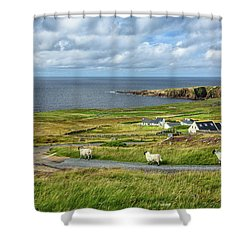 Marching Shower Curtain