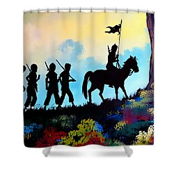 Marching At Daybreak Shower Curtain