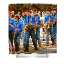 Marching Band - Junior Marching Band  Shower Curtain by Mike Savad