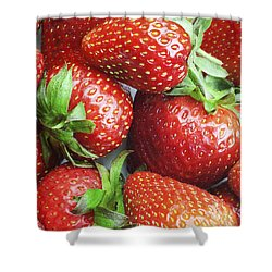 Shower Curtain featuring the photograph Marco View Of Strawberries by Paul Ge