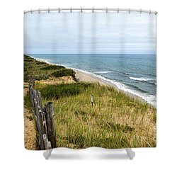 Marconi Beach Shower Curtain by Michelle Wiarda