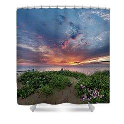 Marconi Station Sunrise Square Shower Curtain