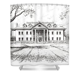 Marcus Daly Mansion Hamilton Montana Shower Curtain by Kevin Heaney
