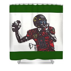 Marcus Mariota 1 Shower Curtain by Jeremiah Colley