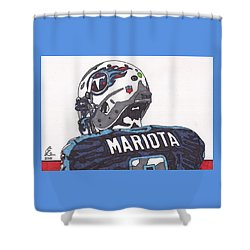 Marcus Mariota Titans 2 Shower Curtain by Jeremiah Colley