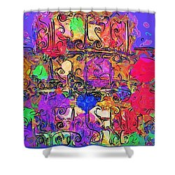 Shower Curtain featuring the digital art Mardi Gras by Alec Drake