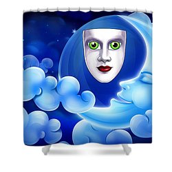 Mardi Gras At Night Shower Curtain by Gary Crockett