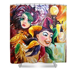 Mardi Gras Images Shower Curtain by Diane Millsap