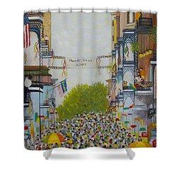 Mardi Gras On Bourbon Street Shower Curtain by Douglas Ann Slusher
