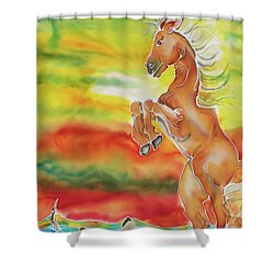 Mare Scare Shower Curtain
