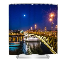 Margaret Bridge At Evening Budapest Shower Curtain