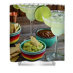 Margarita Party Shower Curtain by Teri Virbickis