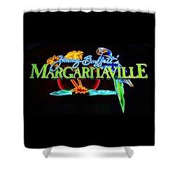 Margaritaville Neon Shower Curtain