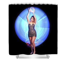 Maria Bringing Magic To The Night. Shower Curtain