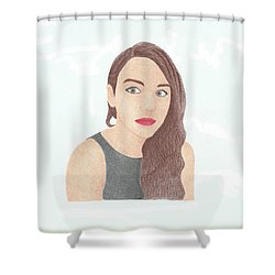 Mariand Castrejon - Yuya Shower Curtain