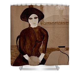Marianne Waiting Shower Curtain