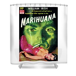 Shower Curtain featuring the painting Marihuana by Bill Fleming