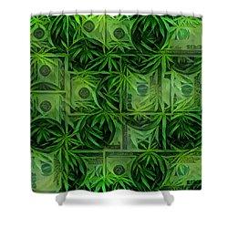 Marijuana Dollars Shower Curtain