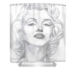 Marilyn  Shower Curtain by Carol Wisniewski