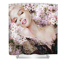 Marilyn Cherry Blossom B Shower Curtain