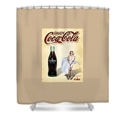 Marilyn Coca Cola Girl 3 Shower Curtain