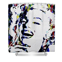 Marilyn Monroe Abstract Painting Shower Curtain