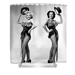 Marilyn Monroe And Jane Russell Shower Curtain by American School