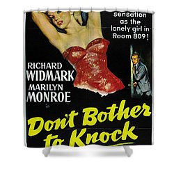 Marilyn Monroe And Richard Widmark In Don't Bother To Knock Shower Curtain