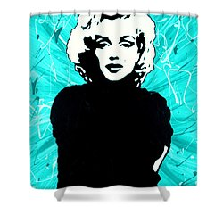 Marilyn Monroe Blue Green Aqua Tint Shower Curtain