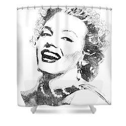 Marilyn Monroe Bw Portrait Shower Curtain