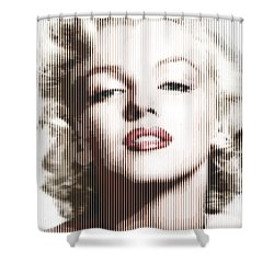 Marilyn Monroe - Colored Verticals Shower Curtain