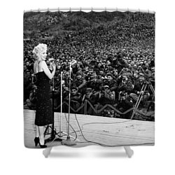 Marilyn Monroe Entertaining The Troops In Korea Shower Curtain by American School