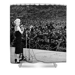 Marilyn Monroe Entertaining The Troops In Korea Shower Curtain