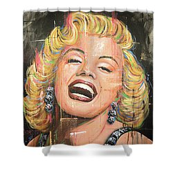 Marilyn Monroe Film Movie Actress Art Painting Shower Curtain