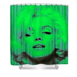 Marilyn Monroe In Green Shower Curtain