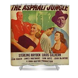 Marilyn Monroe In The Asphalt Jungle Movie Poster Shower Curtain