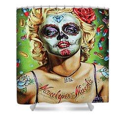 Marilyn Monroe Jfk Day Of The Dead  Shower Curtain