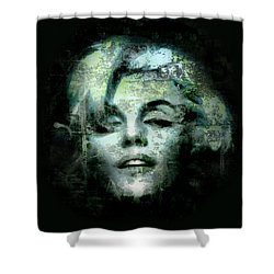 Shower Curtain featuring the digital art Marilyn Monroe by Kim Gauge