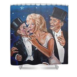 Marilyn Monroe Marries Charlie Mccarthy Shower Curtain