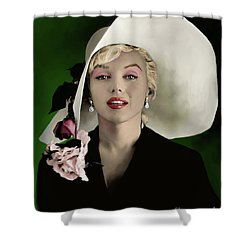Marilyn Monroe Shower Curtain by Paul Tagliamonte
