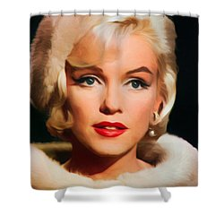 Marilyn Monroe Shower Curtain by Vincent Monozlay
