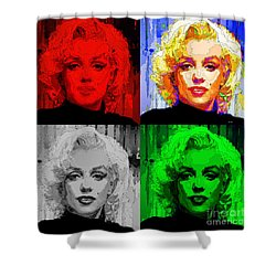 Marilyn Monroe - Quad. Pop Art Shower Curtain