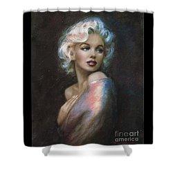 Marilyn Romantic Ww 4 Blue Shower Curtain