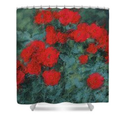 Marilyn's Red Roses Shower Curtain