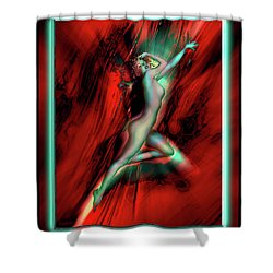 Marilyn's Rose Shower Curtain