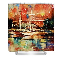 Marina Shower Curtain by Al Brown
