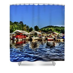 Marina At Cheat Lake Clear Day Shower Curtain