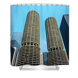 Marina City Chicago Shower Curtain