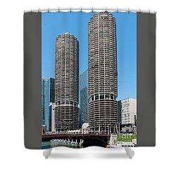 Marina City Shower Curtain